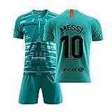COOLBOY Fußball-T-Shirt 2019-2020#10 Messi Fußball Jersey & Shorts & Socken Kinder und Jugend...