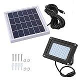 54 LED Solarbetriebene Außenleuchte Sicherheit Wasserdichter Rasenlichtsensor Flutlichtstrahler...