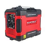Matrix 160100034 PG 2000i-USB Inverter Stromerzeuger, Stromgenerator Benzin leise, 4 takt, 2000...