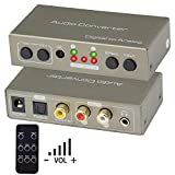 DAC Audio Konverter, Ozvavzk Digital auf Analog Lautstrkeregelung, Digital SPDIF Toslink zu Analog...