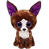 TY 37259 Dexter, Chihuahua 24cm, mit Glitzeraugen, Glubschi's, Beanie Boo's, braun, 24 cm