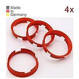 KONIKON 4X Zentrierringe 72,6 x 67,1 mm Orange Felgen Ringe Radnaben Zentrierring Adapterring Ring...
