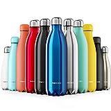 Proworks Edelstahl Trinkflasche | 24 Std. Kalt und 12 Std. Heiß - Premium Vakuum Wasserflasche -...