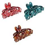 Bonarty 3 Stücke Stilvolle Charming Candy Farbe Hair Claw Griff Klappclips