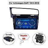 XMZWD Android 8.1 Stereo Home Auto 10.1 Zoll Satelliten Autoradio GPS Navigation, Für Volkswagen...