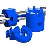 8er Set 16mm Federwegsbegrenzer Blue Line mit 6-Fach Positionierung Federwegbegrenzer