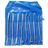 Holzraspel Datei-Set Riffler Nadel Werkzeuge Zweihand Carbon Steel Curved Werkzeuge für die...