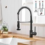 TIMACO Schwarz Niederdruck Armatur Für Küche 360° Drehbar Wasserhahn Küche Küchenarmatur Mit...