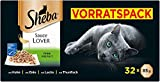 Sheba Sauce Lover – Feine Häppchen Variation mit Sauce für ausgewachsene Katzen – 32 x 85g...