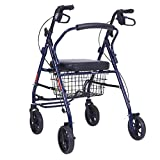 Trolley Old Rollator Shopping Auto Four Wheel Walker Folding Can Sit Laufgestell Tragbare Shopping...