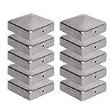 10 x Pfostenkappe für Zaunpfosten (70x70 mm) | Verzinktem Stahl | Pyramiden Form | Abdeckkappe für...
