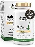 Haar-Vitamine - Hochdosiert mit Biotin, Zink, Selen, OPC, Hirse-Extrakt (reich an Silizium und...
