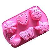 DIY Kleine Kuchen-Form 6 lcher lebensmittelqualitt silikon fondant sigkeiten schokolade mousse...