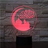 BFMBCHDJ Moslemische kleine Lampe 3d Luminaria De Mesa Usb führte Acryl geführtes helles...