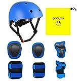 COOLGO Kinder Helm Inliner Protektoren Set, Skateboard Helm mit Schutzausrüstung...