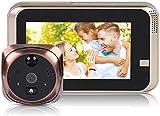 YOUYE 4.3' LED-Digital-Tür-Projektor 720P Smart Vision Tür-Kamera-Monitor-Innenanzeige...