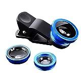 Lodenlli Langlebige universelle 3-in-1-Handy-Objektive Fish Eye Smartphone Weitwinkel-Makrokamera...