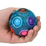HOOGAO Spielzeug Luminous Regenbogen-Puzzle-Ball Cube Regenbogen Ball Puzzle-Würfel Ball Puzzle...