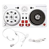 DJ Controller mit eingebauten DJ-Lichtern & DJ-Mixer Set mit Kopfhörer für Jungen Kinder Party...