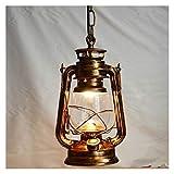Petroleumlampe Vintage Retro Laterne Kerosene Pendelleuchte E27 Lichter Loft Restaurant...