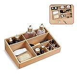Dreamyep Holz Desktop Storage Box Buchenholz Lippenstift Schutz Schmuck-Box Einfacher Haushalt