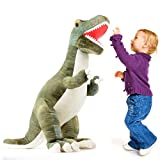 Prextex 24 Giant Plsch-Dinosaurier T-Rex Jumbo kuschelige Dinosaurier Spielzeug fr Kinder 24 Inches