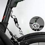 hinffinity Fahrradkettenschlösser, Fahrradschloss, Diebstahlschutz, Mini-Motorrad-Zahlenschloss...