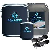 2K Epoxidharz Garage Bodenbeschichtung Komplett Set - 2K Bodenfarbe + Ätzlösung für...