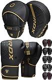 RDX Pratzen und Boxhandschuhe Set, Kampfsport Handpratzen, Muay Thai Boxpratzen Mitts, MMA Training...
