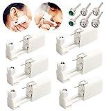 Einweg-Ohr-Piercingpistole mit Ohrsteckern, sicher und schmerzfrei, für Mädchen, Damen, Herren, 6...