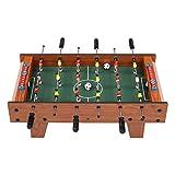 Kleiner 27-Zoll-Tischfußballtisch in natürlicher Holzfarbe, interaktives...