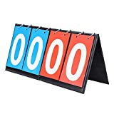 OhhGo Anzeigetafel Falte Sporttischplatte Anzeigetafel Kerbe Keeper 2/4 Digit fr Indoor Outdoor...