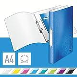 Leitz 42570036 Ringbuch wow, A4, PP, 2 Ringe, 25 mm, blau metallic