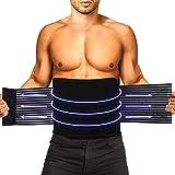 HLOMOM Rückenbandage für die Lendenwirbelsäule - breiter Schutz - verstellbare Kompression -...