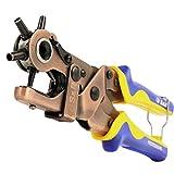 S&R Hebel-Revolverlochzange RUND 2- 2,5 - 3 - 3,5 - 4 - 4,5 mm + 1 Extra Amboss | Lochzange...