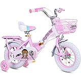 ZXQZ Mädchenfahrrad, Kinder Faltrad, 12'/ 14' / 16'/ 18' Faltbares Kinderfahrrad mit Stützrad,...