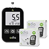 Adia Diabetes-Starter-Set inkl. Blutzuckermessgerät (mmol) mit 110 Blutzuckerteststreifen,...