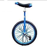 ZSH-dlc Freestyle Einrad 16/18/20/24 Zoll Einzelrad Kinder Erwachsene Höhenverstellbar Laufrads...