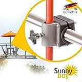 Sonnenschirmhalter Balkongeländer - Sunnyboy, der Kleine - Platzsparender Balkon Schirmhalter für...