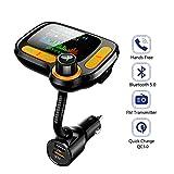 Bluetooth FM-Transmitter, Bluetooth 5.0 Car Kit Freisprecheinrichtung FM Transmitter...