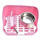 Gpzj Katzentoilette Jumbo mit Kapuze Katzentoilette mit Wasserflasche und Schüssel,...