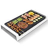 Weinset Teppanyaki Tischgrill Antihaft-Grillplatte mit Einstellbarer Temperatur Grill-Kochplatte...