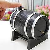 IUwnHceE 1PC Schwarz mit Silber Farbe Weinfass aus Kunststoff automatische Zahnstocher Box Container...