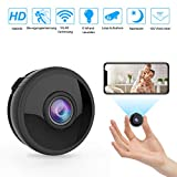 Mini WLAN Kamera berwachungskamera Wireless Full HD 1080P mit 6 Infrarot-Licht Nachtsicht...