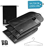 3 x Kleidersack Anzug + Bonus Schuhbeutel - Kleiderhülle Hält Ein Leben Lang   Anzugtasche - BIS...