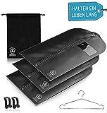 3 x Kleidersack Anzug + Bonus Schuhbeutel - Kleiderhülle Hält Ein Leben Lang | Anzugtasche - BIS...