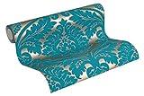 MATEX Tapete barock glamouröse Vliestapete mit Ornamenten Barocktapete in 3D-Optik goldfarben...