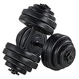 ArtSport Hantelset 30kg | Kurzhantel Set mit 2 Kurzhanteln 25 mm gerändelt, 16 Gewichte und...