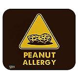 Erdnussallergie gelbes warnzeichen low profile dünne mauspad mousepad