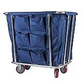 Faltbare Wäschekörbe Commercial Laundry Hamper Sorter Wagen mit Rädern Hotel Housekeeping...